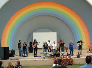 Shining Wheel in a huge band shell concert.